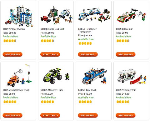 Shop LEGO City Cars