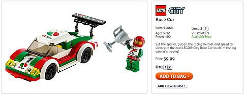 Shop LEGO Race Car