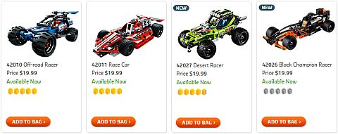 Shop LEGO Technic Racers