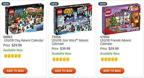 LEGO Advent Calendars 2014