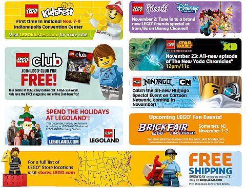LEGO Calendar Events November