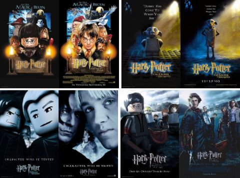 LEGO Harry Potter Movie Posters