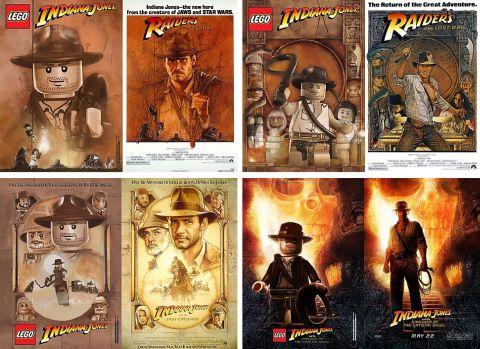 LEGO Indiana Jones Movie Posters