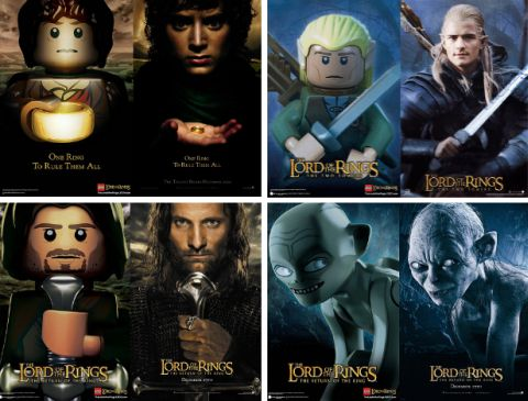LEGO Lord of the Rings Movie Posters