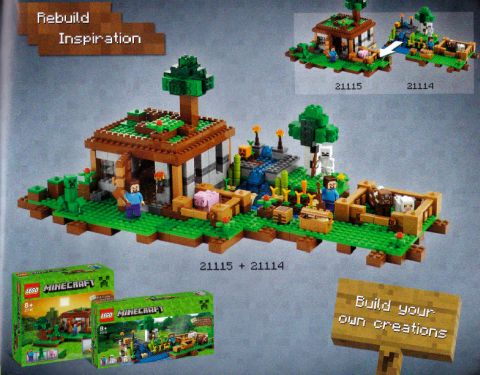 LEGO Minecraft Combined Model