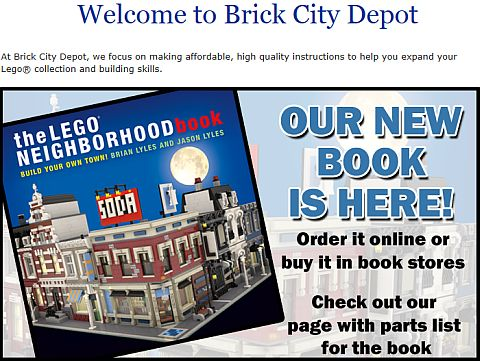 LEGO Neighborhood Website