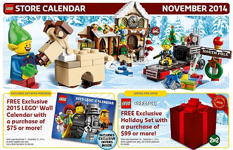 LEGO November Calendar