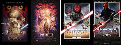 LEGO Star Wars Movie Posters