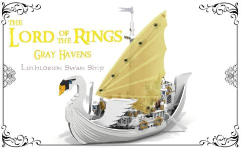 LEGO Swan Ship by Reekardoo