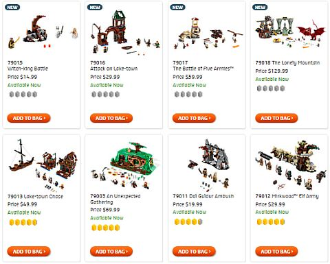 Shop LEGO Hobbit Sets