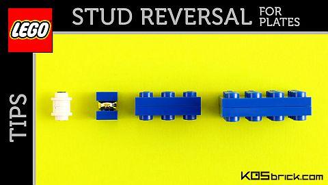 LEGO Plate Stud Reversal