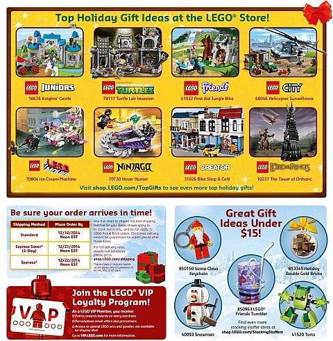 LEGO Store Calendar December Specials