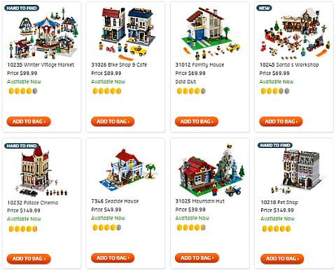 Shop LEGO Creator Houses