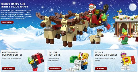 Shop LEGO Holiday Guide
