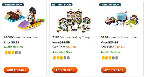 Shop LEGO Retiring Soon Friends