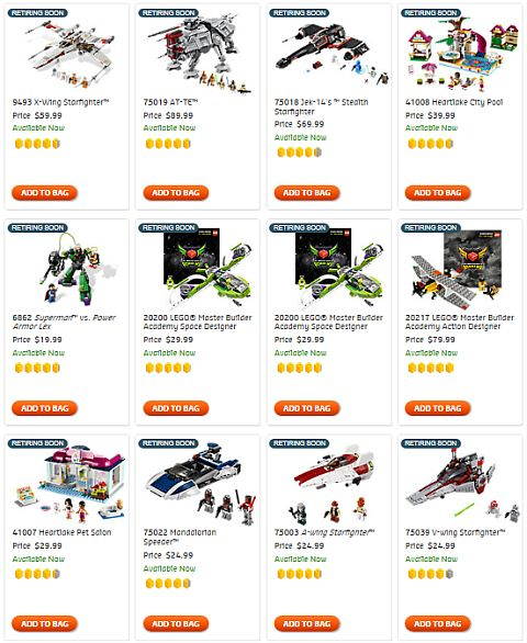 Shop LEGO Retiring Soon Sets