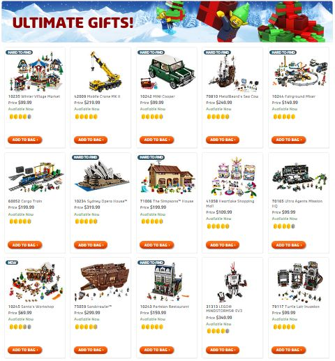 Shop LEGO Ultimate Gift List