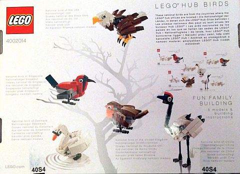 #4002014 LEGO HUB Birds Set Back