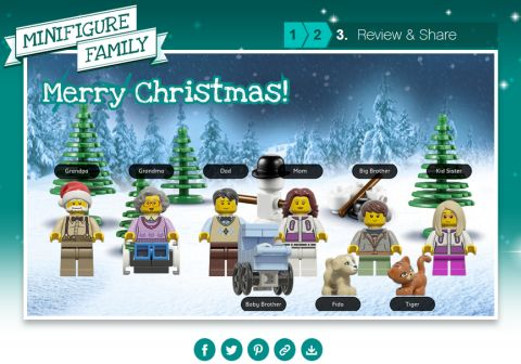 LEGO Christmas Card Step 3