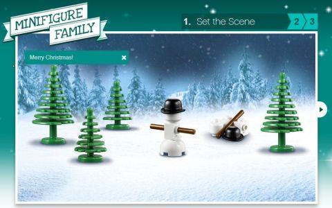 LEGO Christmas Cards Step 1