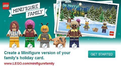 LEGO Christmas Greeting Card App
