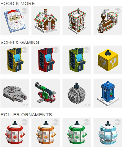 LEGO Christmas Ornaments by Chris McVeigh