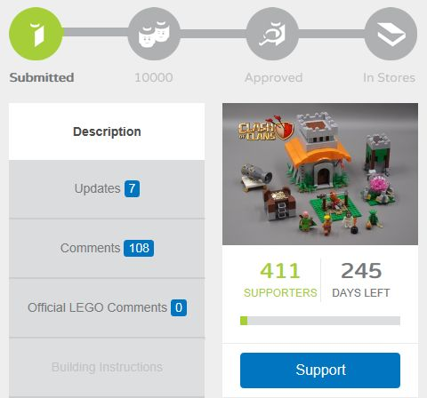 LEGO Clash of Clans on LEGO Ideas