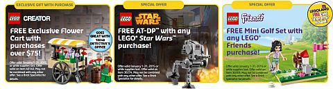 LEGO January Promotions
