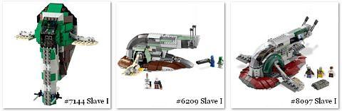 LEGO Slave 1 Versions