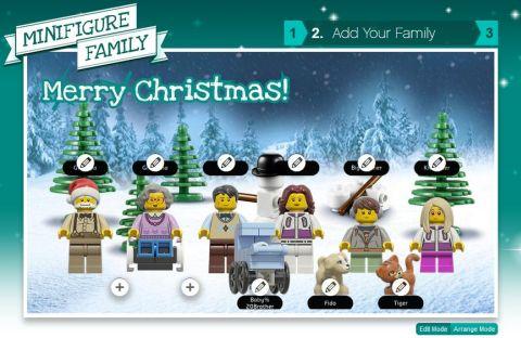 LEGo Christmas Card Step 2