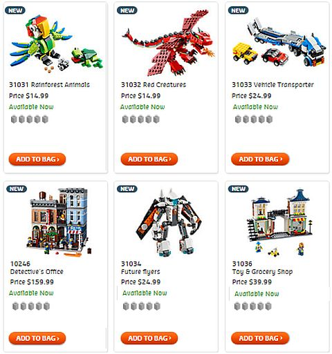 Shop 2015 LEGO Creator
