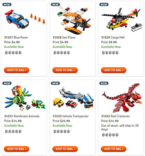 Shop LEGO Creator 2015 Sets