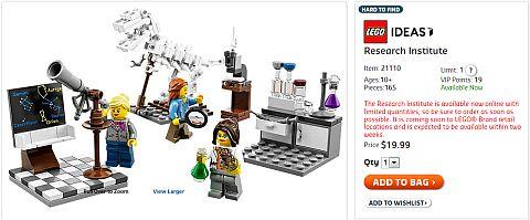 Shop LEGO Ideas Research Institute