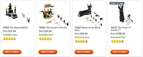 Shop LEGO Lord of the Rings