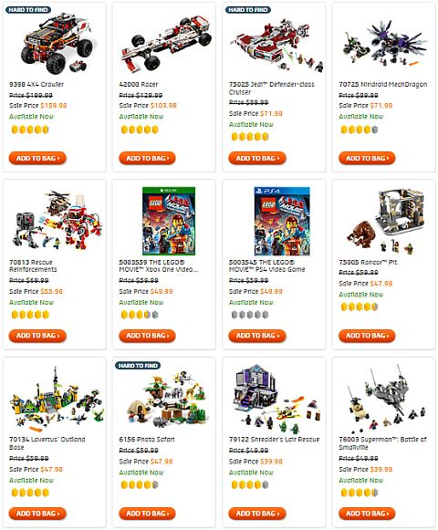 Shop LEGO On Sale