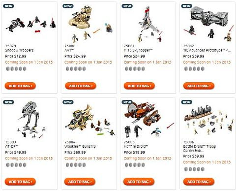 Shop LEGO Star Wars 2015