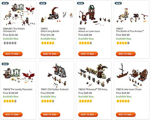 Shop LEGO The Hobbit