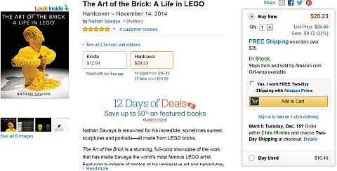 The Art of the Brick on Amazon