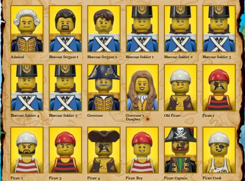 2015 LEGO Pirates Characters