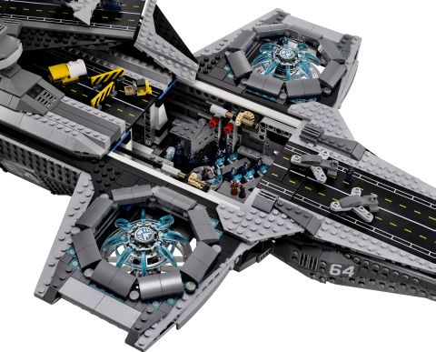 #76042 LEGO SHIELD Helicarrier Details