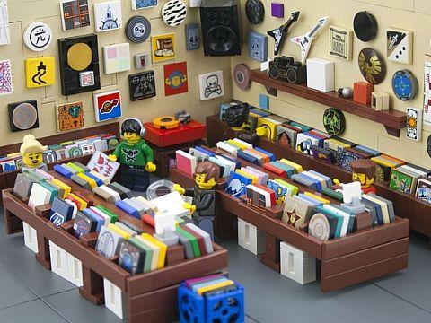 LEGO Ideas Record Store by RyanHowerter