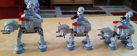 LEGO Star Wars MicroFighters AT-AT by Beefyonder