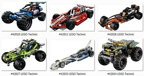 LEGO Technic Pull Back Racers