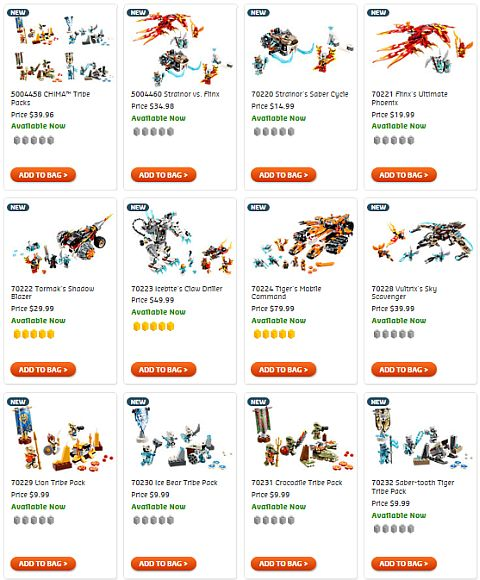 Shop LEGO Legends of Chima