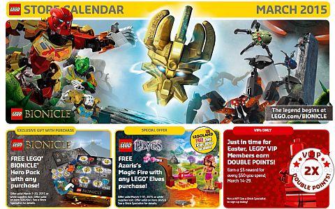 LEGO March Calendar
