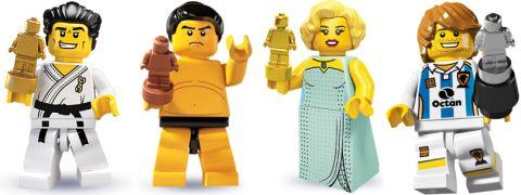 LEGO MicroFigures Size Comparison