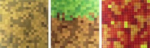 LEGO Minecraft Baseplates Colors