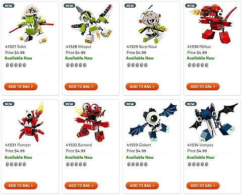 Shop 2015 LEGO Mixels Sets