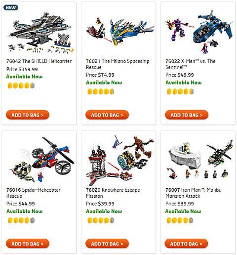Shop LEGO Marvel Super Heroes