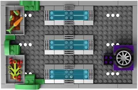 #71016 LEGO Kwik-E-Mart Roof View